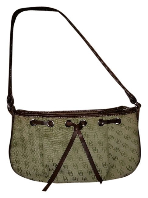 Item - Monogram Green / Brown Canvas / Leather Baguette