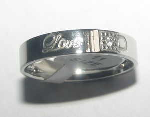 Comfort Fit Titanium Steel Engraved Men's Wedding Band Free Shipping