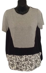 Thakoon T Shirt Heather grey and black