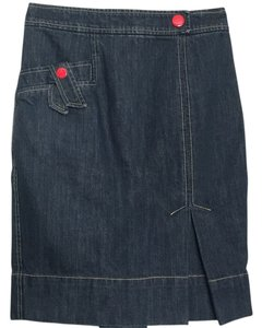 Marc Jacobs Denim Excellent Condition Designer Skirt