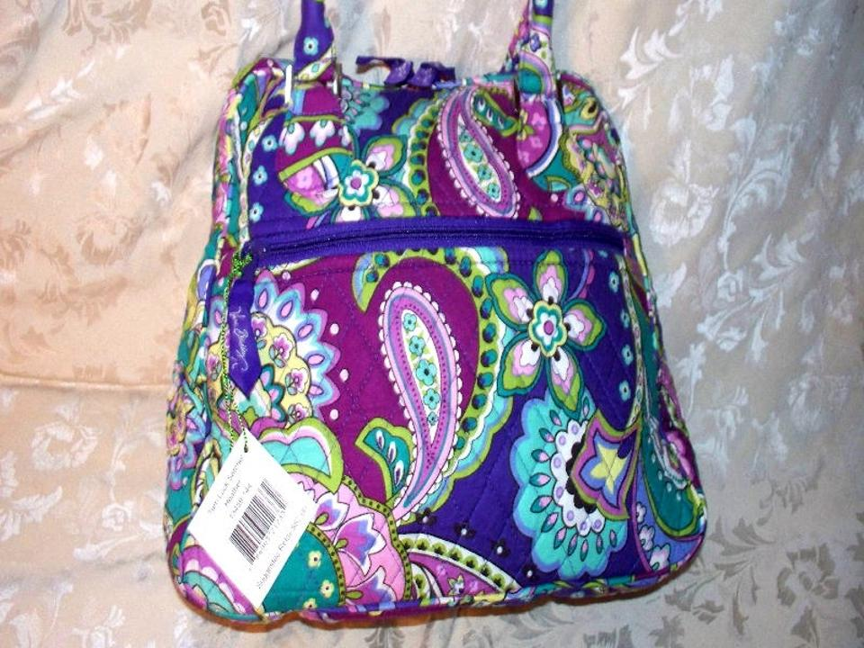 ... Purse tote Christmas Gift Roomy pockets Heather Purple Vera Bradley