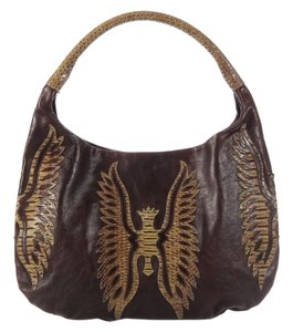 Devi Kroell Python Textured Dk.ek0301.16 Snakeskin Leather Hobo Bag