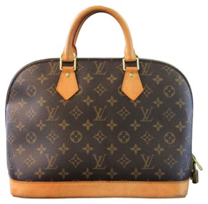 Louis Vuitton Mini Alma Handbag Canvas Shoulder Bag