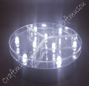 White Led with Silver Coated Base 4 Inch Light 9 Lights Centerpiece