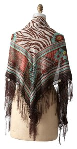H&M patterend scarf with tassels