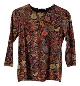 Leggiadro Stretch Viscose 3/4 Sleeves Top Multi