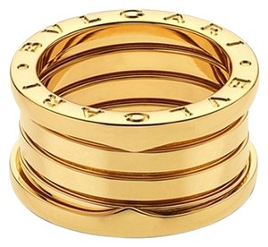 BVLGARI Bvlgari B.Zero1 18K Yellow Gold 4 Band Ring AN191025 US 4.75