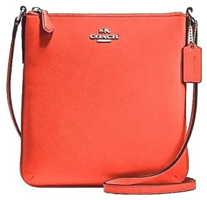 Coach Orange Leather Cross Body Bag