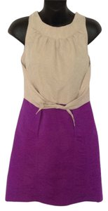 Richard Chai for Target short dress Tan and purple on Tradesy
