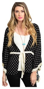 Other Oversized Loose Hi-low Spring Free People Top Black & Cream