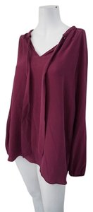 Lucky Brand Casual Top Maroon