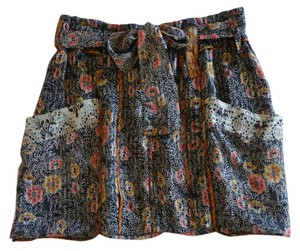 Isabel Marant Mini Silk Floral Mini Skirt multi