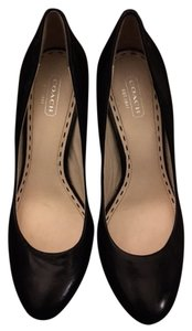 Coach Heels Leather black Pumps