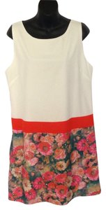 Anthropologie short dress White and floral on Tradesy