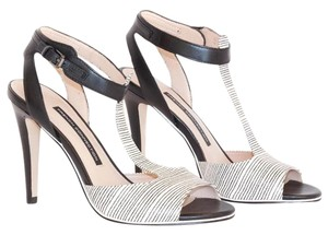 French Connection Heels Black & White Pumps