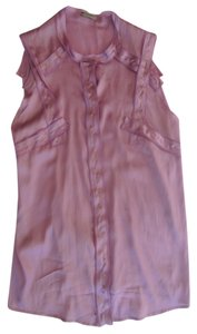 Bottega Veneta Silk Sleeveless Top Lavender