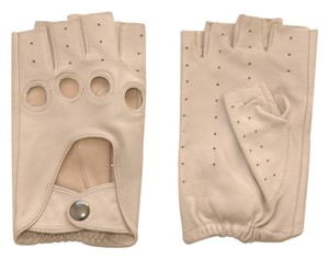 Danier danier cut out leather fingerless gloves off-white mortorcycle