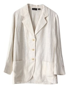 Banana Republic Linen Jacket Italian White Blazer