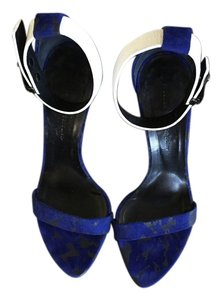 Proenza Schouler Royal Blue Black and White Sandals