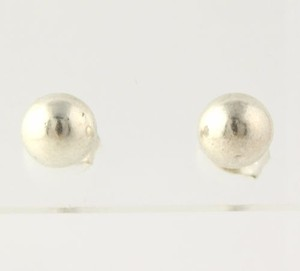 Bead Stud Earrings - Sterling Silver 925 Womens 6mm Ball Polished Pierced