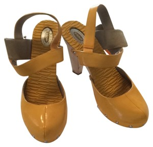 Dr. Scholl's Yellow Patent Mules