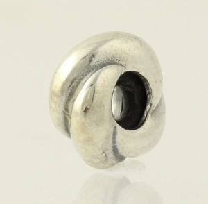 Circle Knot Spacer Charm Bead Sterling Silver 925 Italy Womens Jewelry Italian