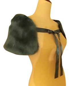New York & Company Faux Fur Polyester Satin Cape