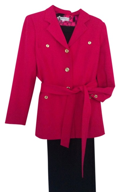 Item - Pink/Black Classic with Style Pant Suit Size 12 (L)