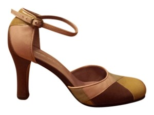 Nine West Multi-color beige/brown/mustard Sandals