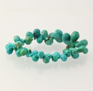 Dyed Howlite Chunky Bracelet - Womens Fashion Accessory Turquoise Blue