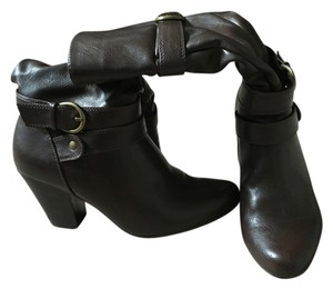Apt. 9 Buckle Heel Midcalf Brown Boots