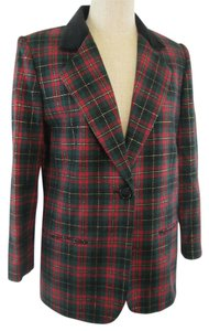 Sag Harbor Jacket Red multi-color Plaid Blazer