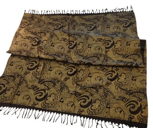 Other Golden Paisley Scarf/Wrap/Pareo - [ Roxanne Anjou Closet ]