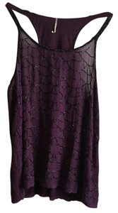 Free People Beaded Top purple