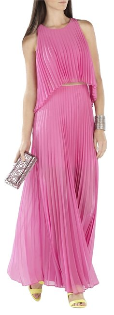 Item - Pink Gloss XS Shaina Sleeveless Pleated Gown Long Night Out Dress Size 2 (XS)