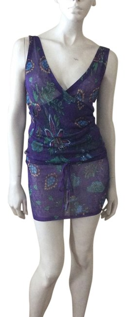 Item - Purple Knit Cover-up/Sarong Size 00 (XXS)