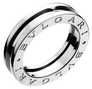 BVLGARI Bvlgari B.Zero1 18K White Gold 1 Band Ring AN852423 US 6.75