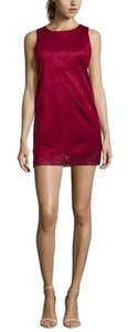 TCEC short dress Burgundy Red Suede Faux Fun on Tradesy