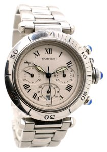 Cartier Cartier Pasha 34mm 1050 Stainless Steel with blue cabochon crown, Unisex Watch