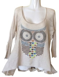 The Classic Owl French Terry Hi-lo Sweater