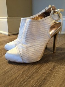 Charles By Charles David Charles By Charles David Slingback Mesh Ankle Mesh Date White Boots Wedding Shoes