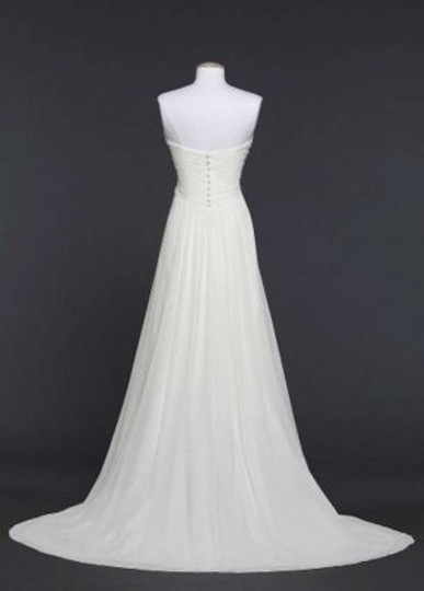 David's Bridal Ivory Chiffon Soft A-line with Beaded Empire Waist Style Wg3128 Modern Wedding Dress Size 0 (XS)