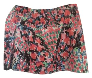 Lilly Pulitzer Mini Skirt pink and black