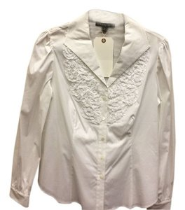 Lafayette 148 New York Size 8 Top White