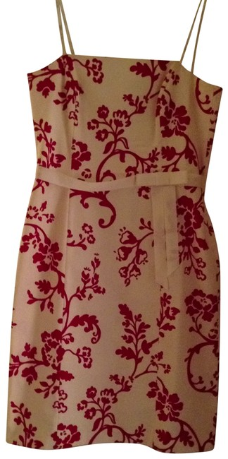 Laundry by Shelli Segal short dress cream red on Tradesy