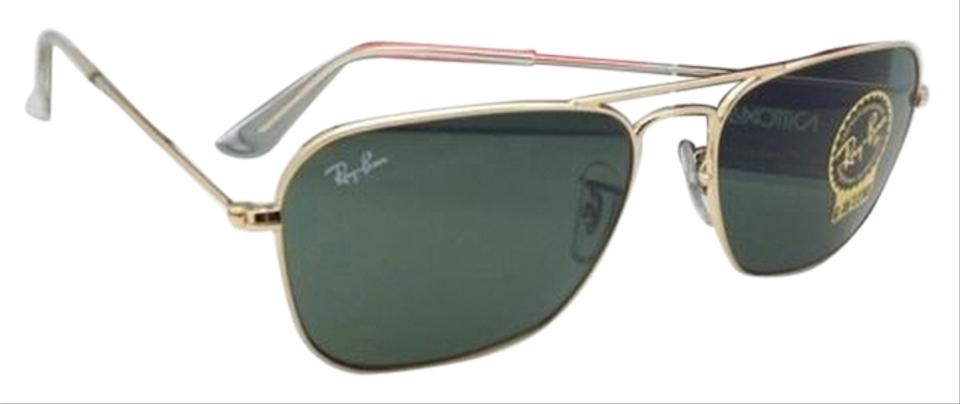 5a4e36b27a Ray-Ban Caravan Rb 3136 001 Arista Gold W  G15 Green Lenses New 55 ...