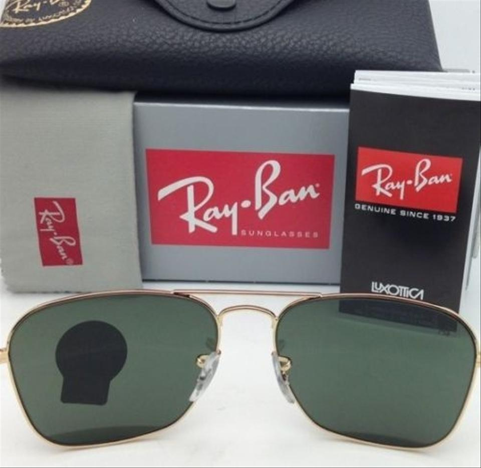 1b20f1f232 Ray-Ban Caravan Rb 3136 001 Arista Gold W  G15 Green Lenses New 55-15 Frame  Sunglasses - Tradesy