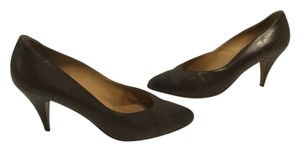 Fratelli Rossetti Vintage All Leather Capped Toe Italian Brown Pumps