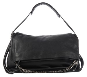 f8f03c3fa1a Jimmy Choo Jc.k0225.14 Black Biker Leather Chain Shoulder Bag