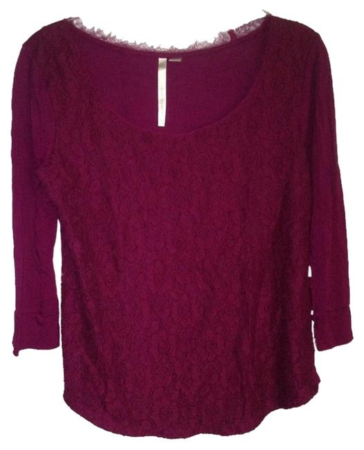 LC Lauren Conrad Lace Top Plum